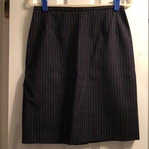 Women's pinstriped skirt!